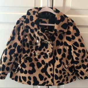 Gorgeous leopard coat with gold buttons